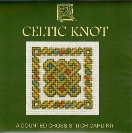 Textile Heritage Cross Stitch Kit - Card - Celtic Knot - Made in Scotland