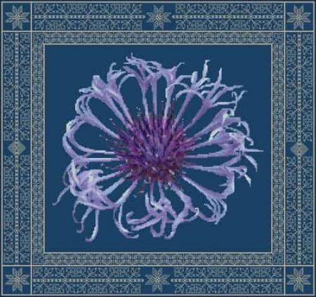 DoodleCraft Design Cross Stitch Kit - Centaurea, Cornflower