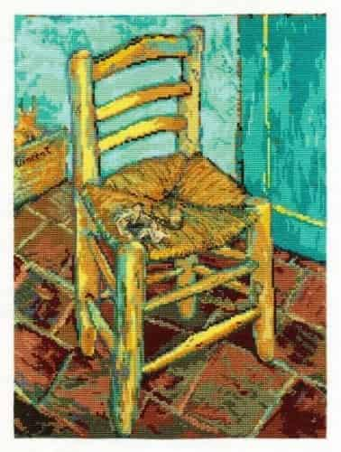 DMC Cross Stitch Kit - National Gallery - Van Goghs Chair BL1066/71