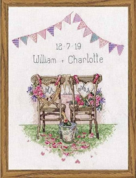 Design Works Cross Stitch Kit - Wedding Chairs
