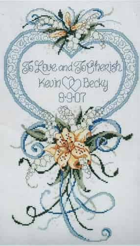 Janlynn Cross Stitch Kit - Cherished Wedding