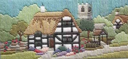 Derwentwater Designs Long Stitch Kit - Lanes Series - Church Lane