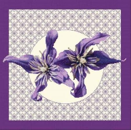 DoodleCraft Design Cross Stitch Kit - Clematis in Bloom