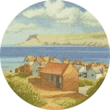 Heritage Crafts Cross Stitch Kit - John Clayton - Circles - Coastal Village