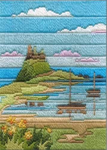 Derwentwater Designs Long Stitch Kit - Seasons, Coastal Spring