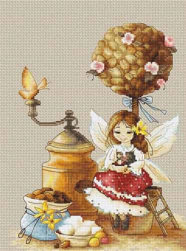 Luca S Cross Stitch Kit - Coffee Fairy B1132