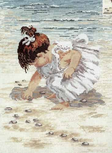Janlynn Cross Stitch Kit - Collecting Shells