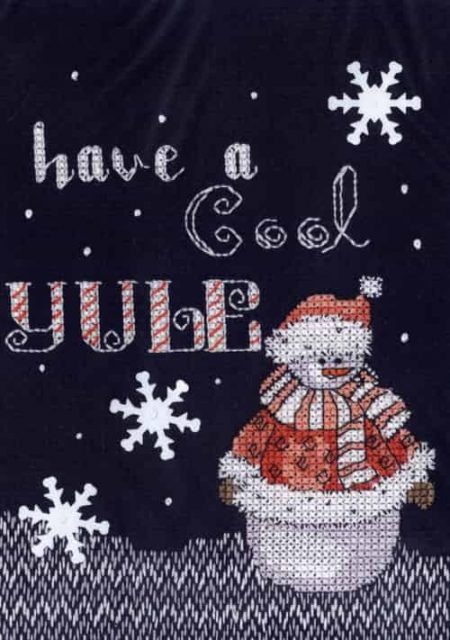 Janlynn Cross Stitch Kit - Christmas Designs - Snowman - Cool Yule