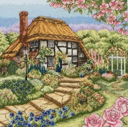 Anchor Cross Stitch Kit - Rose Cottage PCE944