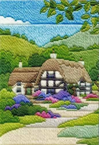 Derwentwater Designs Long Stitch Kit - Seasons, Cottages Summer