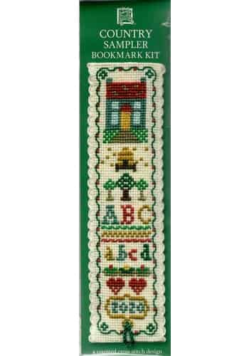 Textile Heritage Cross Stitch Kit - Bookmark - Country Sampler - Made in Scotland