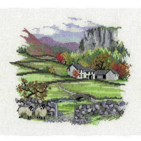 Derwentwater Designs Cross Stitch Kit - Cragside Farm