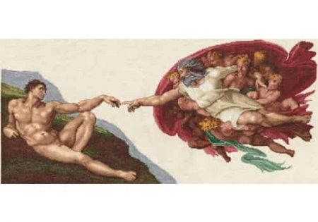 Janlynn Cross Stitch Kit - Michelangelo Painting - The Creation