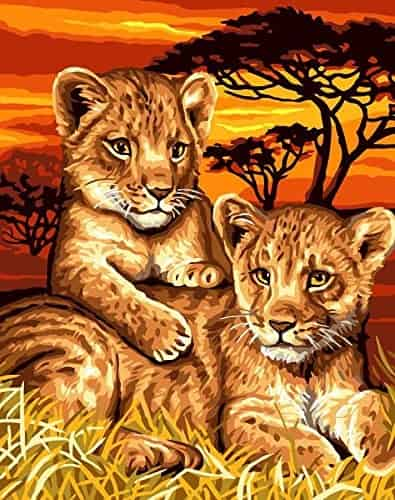 Grafitec Printed Tapestry Needlepoint Canvas - Lion Cubs