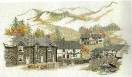 Derwentwater Designs Cross Stitch Kit Cumbrian English Village
