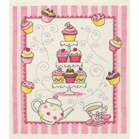 Anchor Cross Stitch Kit - Cupcake ACS44