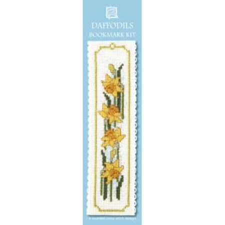 Textile Heritage Cross Stitch Kit - Bookmark - Daffodils - Made in Scotland