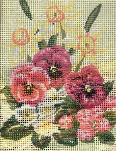 Grafitec Needlepoint Tapestry Kit - Daffodils and Pansies