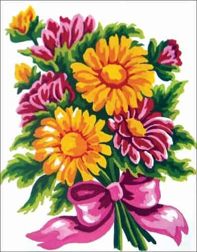 Grafitec Needlepoint Tapestry Kit - Daisy Bouquet