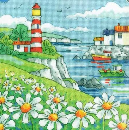 Heritage Crafts Cross Stitch Kit - By the Sea - Daisy Shore