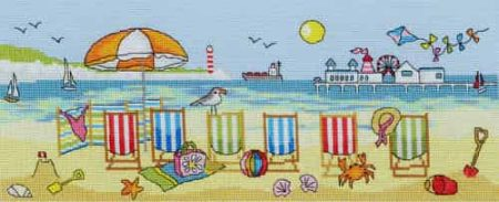 Bothy Threads Cross Stitch Kit - Deckchair Fun XJR29