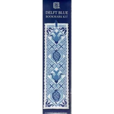 Textile Heritage Cross Stitch Kit - Bookmark - Delft Blue - Made in Scotland