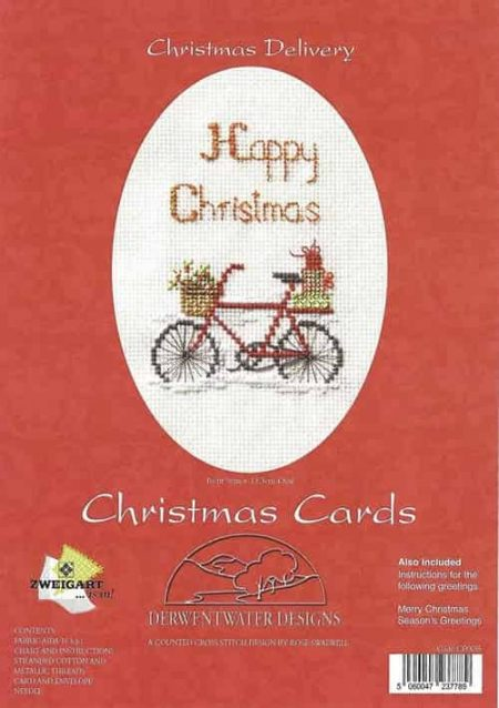 Derwentwater Designs Cross Stitch Kit - Christmas Card, Christmas Delivery