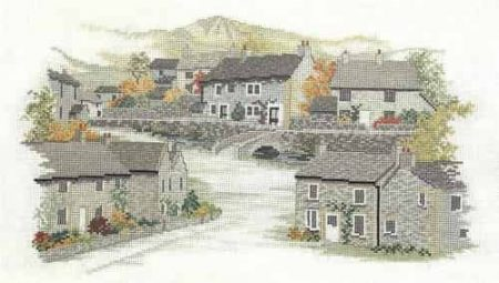 Derwentwater Designs Cross Stitch Kit - Derbyshire Village