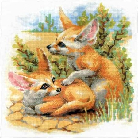 Riolis Cross Stitch Kit - Desert Foxes 1636