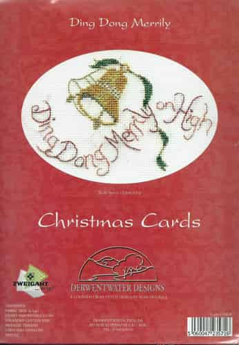 Derwentwater Designs Christmas Card Cross Stitch Kit - Ding Dong Merrily