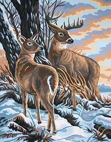 Grafitec Printed Tapestry Canvas - Stag and Doe