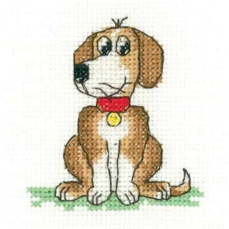 Heritage Crafts Cross Stitch Kit - Dog - Juniors, Beginners