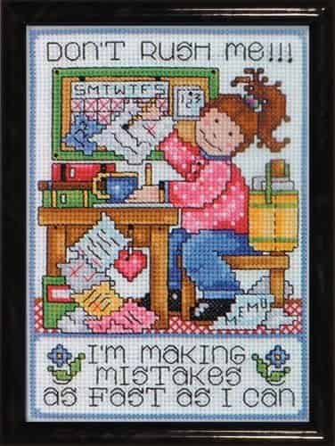 Design Works Cross Stitch Kit - Don't Rush Me, Saying