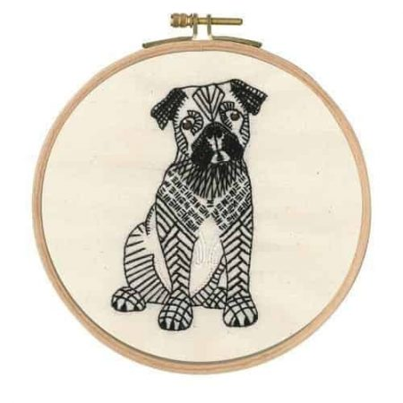 DMC Embroidery Kit - Reigning Cats and Dogs - Doug the Pug TB107