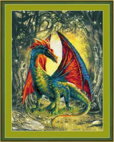 Riolis Cross Stitch Kit - Forest Dragon