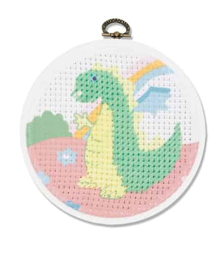 DMC Beginners Cross Stitch Kit - Dragon BK1843 includes hoop