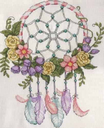 Design Works Cross Stitch Kit - Pastel Dreamcatcher