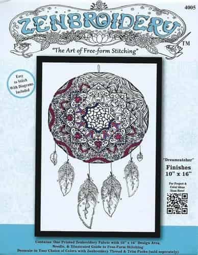 Design Works Zenbroidery Dreamcatcher Fabric Pack, Embroidery