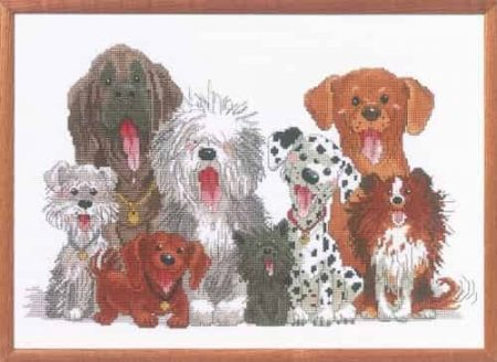 Janlynn Cross Stitch Kit - Dogs of Duckport