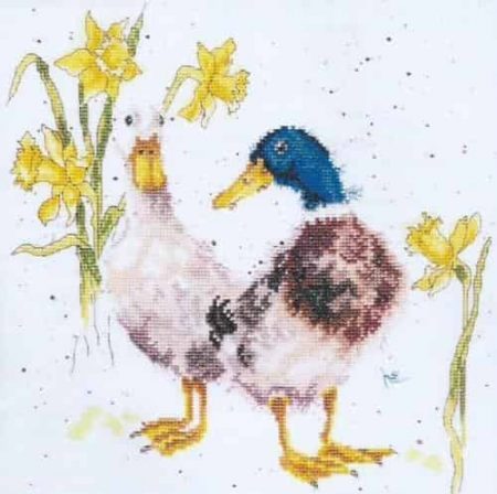 Bothy Threads Cross Stitch Kit - Ducks and Daffs XHD6