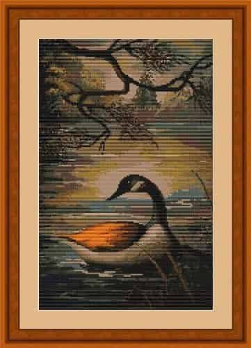 Luca S Cross Stitch Kit - Duck on a Lake