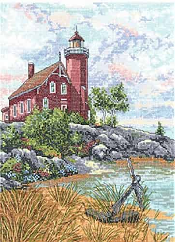 Janlynn Cross Stitch Kit - Eagle Harbour Light, Lighthouse