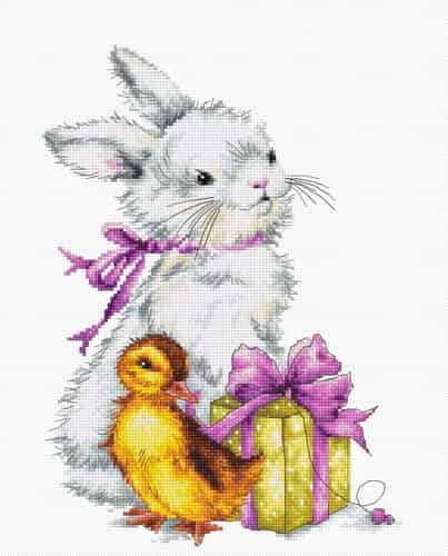 Luca S Cross Stitch Kit - Easter, Bunny, Chick B1127