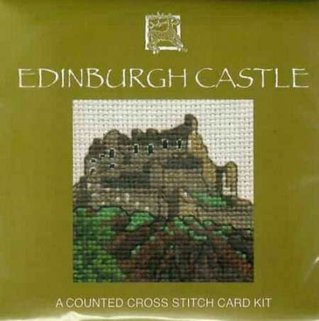 Textile Heritage Cross Stitch Kit - Card - Edinburgh Castle - Made in Scotland