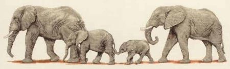 Anchor Cross Stitch Kit - Elephant Stroll PCE732