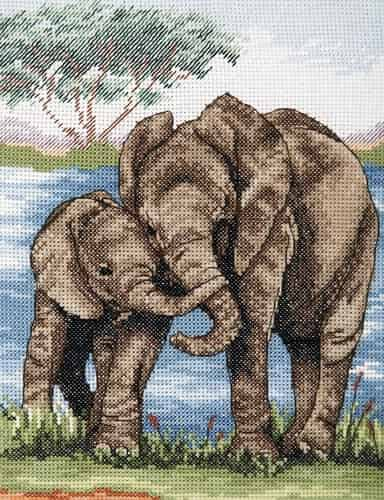Anchor Cross Stitch Kit - Elephants PCE963