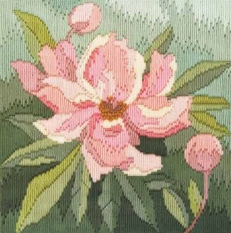 Derwentwater Designs Long Stitch Kit - Peony, Flower
