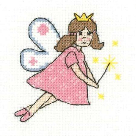 Heritage Crafts Cross Stitch Kit - Fairy - Juniors, Beginners