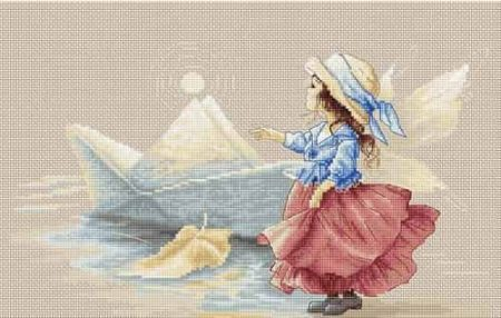 Luca S Cross Stitch Kit - Paper Boat Fairy B1128