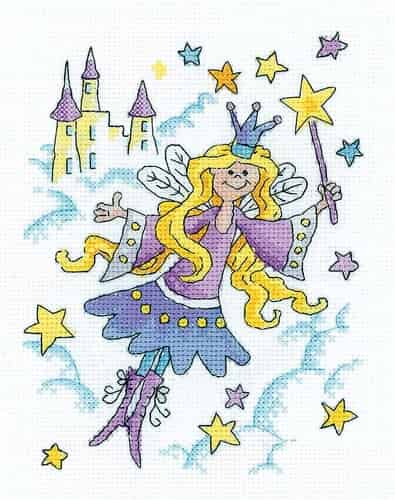 Heritage Crafts Cross Stitch Kit - Fairy Princess